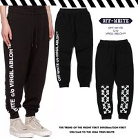 OFF WHITE Casual Alphabet Pants [11501026892]