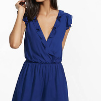 Ruffled Surplice Front Romper from EXPRESS