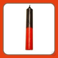 Double Action Red/Black Pillar Candles