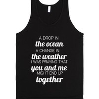 Drop In The Ocean Tank-Unisex Black Tank