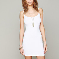 White Spaghetti Strap Bodycon Dress