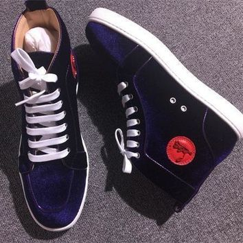 Cl Christian Louboutin Suede Style #2245 Sneakers Fashion Shoes