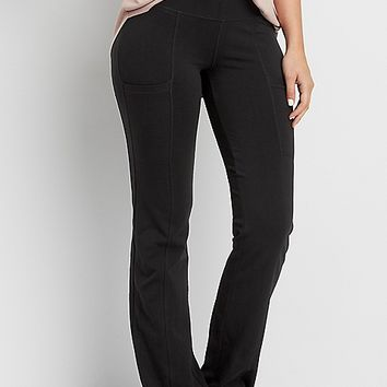 bootcut yoga pant with side pockets | maurices