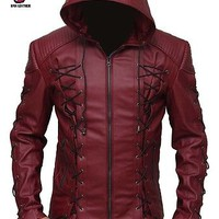 Arrow Stephen Red Hood Colton Haynes Arsenal Jacket