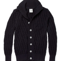 S.N.S. Herning Stark Chunky Waffle Knit Wool Cardigan | MR PORTER