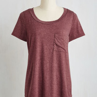 Mid-length Short Sleeves Committed to Coziness Tee