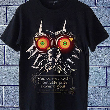 Hot Edition shirt on etsy The Legend of Zelda Majoras Mask available for t shirt mens and t shirt woman size S,M,L,XL,XXL
