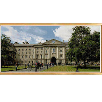 Trinity College Dublin Cross Stitch Pattern