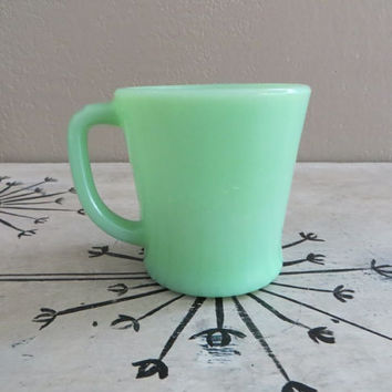 Jadite Mug D Handle Mug Vintage Jadite Jadeite Mug Jadite Glass Mint Green Collectible Jadite Jadite Cup D Handle Cup