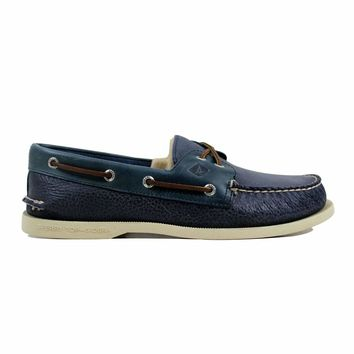 Sperry Authentic Original 2-Eye Cross Lace Navy STS12600