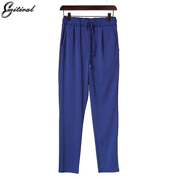 2017 Spring Plus Size M-3XL 4XL 5XL 6XL Casual Loose Stretch Women Palazzo Pants Harem Style Female Slack Sweatpant Trousers