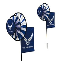 U.S. Air Force Dual Spinner Wheels with Flag