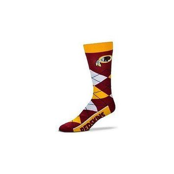 NFL Washington Redskins Argyle Unisex Crew Cut Socks - One Size Fits Most