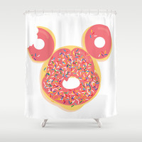 Donut Mickey Shower Curtain by thatonebrand