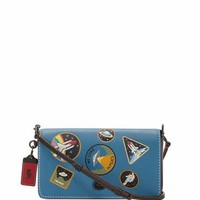 Coach 1941 Dinky Space Patches Crossbody Bag, Blue