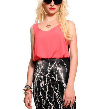 GYPSY WARRIOR - Black Thunder Pencil Skirt