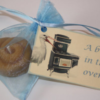 Baby Shower Favors - A Bun in the Oven - Announcements - Bun Candle, Set of Twenty (20)