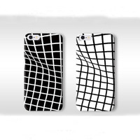 Twisted Grid Pattern Iphone 6 Plus 5s Cases