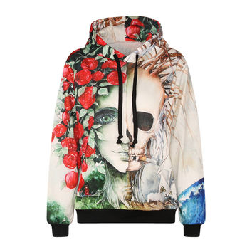 Trendy 3D Digital Printed Fleece Hoodie Sweatshirts