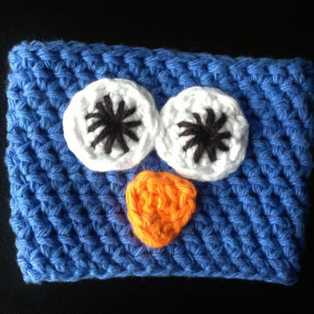 Light Purple/Blue Owl Cup Cozy for a Standard Size To-Go Cup; More Available in Our Shop!