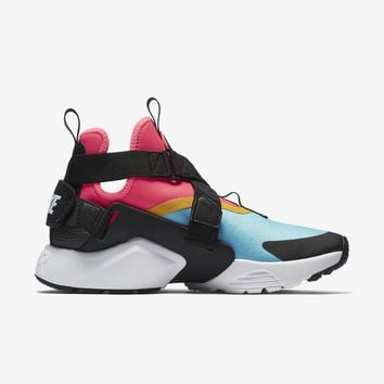spbest WMNS NIKE AIR HUARACHE CITY - MULTI-COLOR/RACER PINK/VIVID SULFUR/BLACK