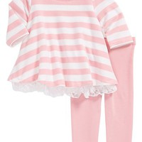 Pippa & Julie Stripe Top & Leggings (Baby Girls) | Nordstrom