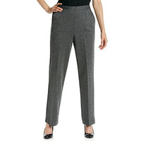 Alfred Dunner® Stretch Waistband Proportioned Tweed Pant at www.herbergers.com