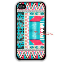 iPhone 4 Case, iPhone 4s Case, iPhone 4 Hard Case, Aztec Pattern black iPhone Case