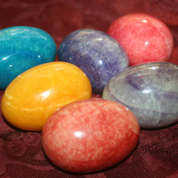 ON SALE Large Italian Marble Eggs,Home Decor Colorful Eggs