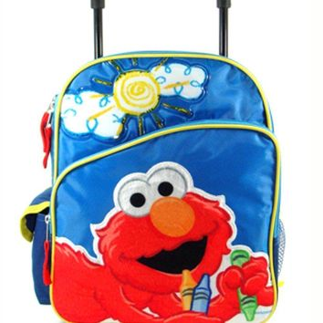 Small Rolling Backpack - Sesame Street - Elmo - Big Sun 12""