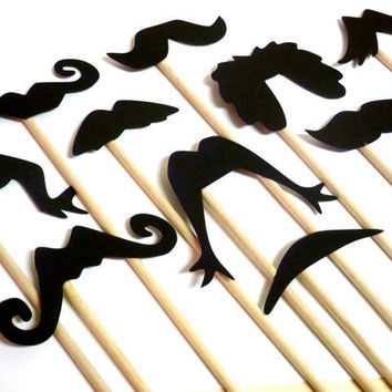 36 Mustache Moustache Lip Gender Reveal Little Man Bash Photo Prop Photobooth Photo Booth Props Made to Order