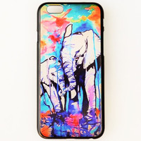 iPhone 6 Case Cover Elephant iPhone 6 Hard Case Baloons Uplifting Back Cover For iPhone 6 Inspirational Slim Design Case