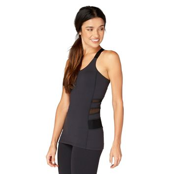 The Little Black Yoga Top from the Aloha Collection - Built in Bra with Removable Cups
