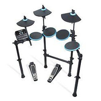 Kit 5-Piece Electronic Drum Set with Collapsible 4-Post Rack Drums Coach New