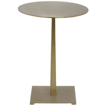 Iorama side Table, Antique Brass