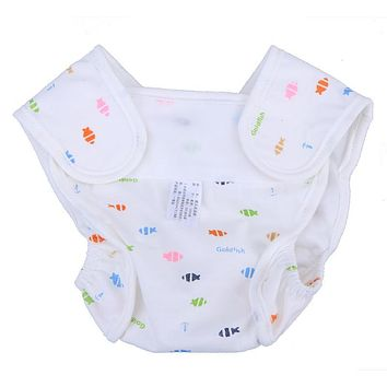 Baby Boys Girls Washable Diapers Cute Cloth Baby Newborn Reusable Diapers Nappies