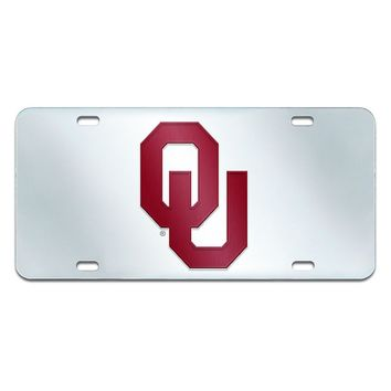 Oklahoma Sooners Mirror-Style License Plate (Okl Team)