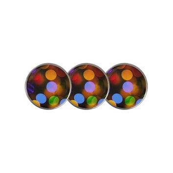 Multicolored Christmas lights. Golf Ball Marker
