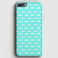 Pink White Mustache iPhone 8 Plus Case