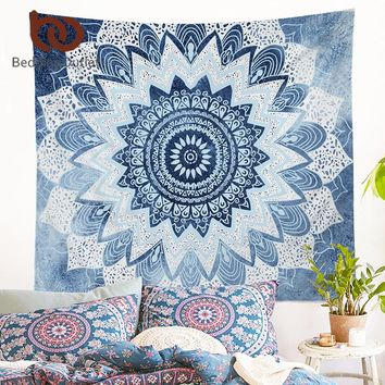 BeddingOutlet Petal Tapestry Floral Printed Boho India Hanging Wall Tapestries 130cmx150cm 153cmx203cm belgium for Home