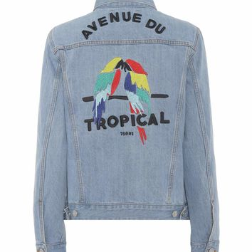 Tropical oversized denim jacket