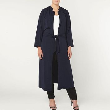 Women Trench Coat Plus Sizes 4x 5xl 6xl 2017 Autumn Spring Fashion Ladies Belt Full Sleeve Long Trench Cardigan XXXL Outerwear