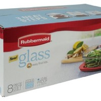 Rubbermaid Easy Find Lid Glass Food Storage Container, 8-Piece Set (2856008)