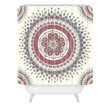 Belle13 Paisley Mandala Love Shower Curtain