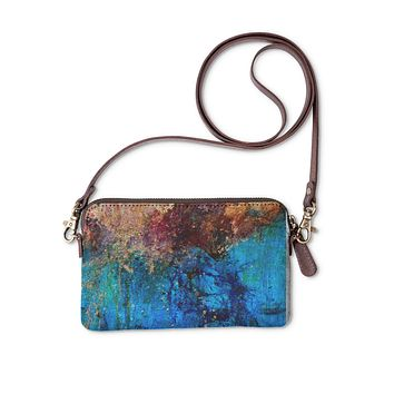 Blue abstract clutch