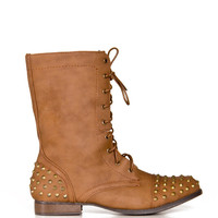 Studded Combat Boots - 2020AVE