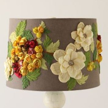 Rose Landscape Lampshade by Anthropologie Grey One Size Lighting