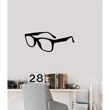 Vinyl Decal Style Decoration Wall Sticker Glasses Spectacles Decor for hipster Unique Gift (g113)