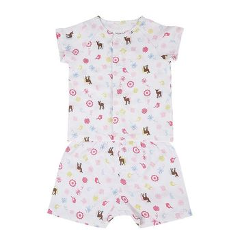 i-baby Baby Clothes Newborn Rompers Safari 100% Cotton Gauze Muslin Short Sleeve Romper Jumpsuits Baby's Sets White