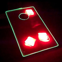 LED Light Up Corn Hole Kit & Bean Bags (8)